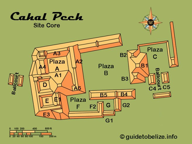 Map of Cahal Pech