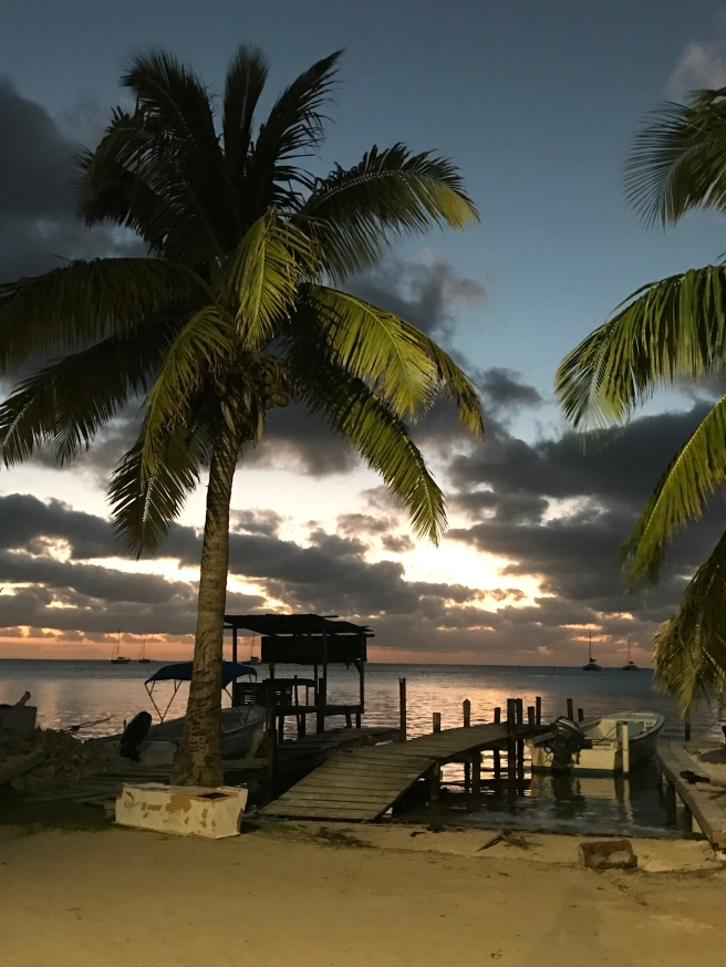 Belize sunset