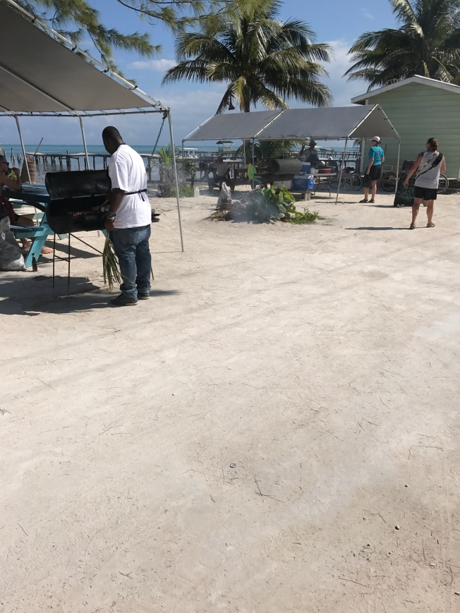 food vendor in caye caulker belize