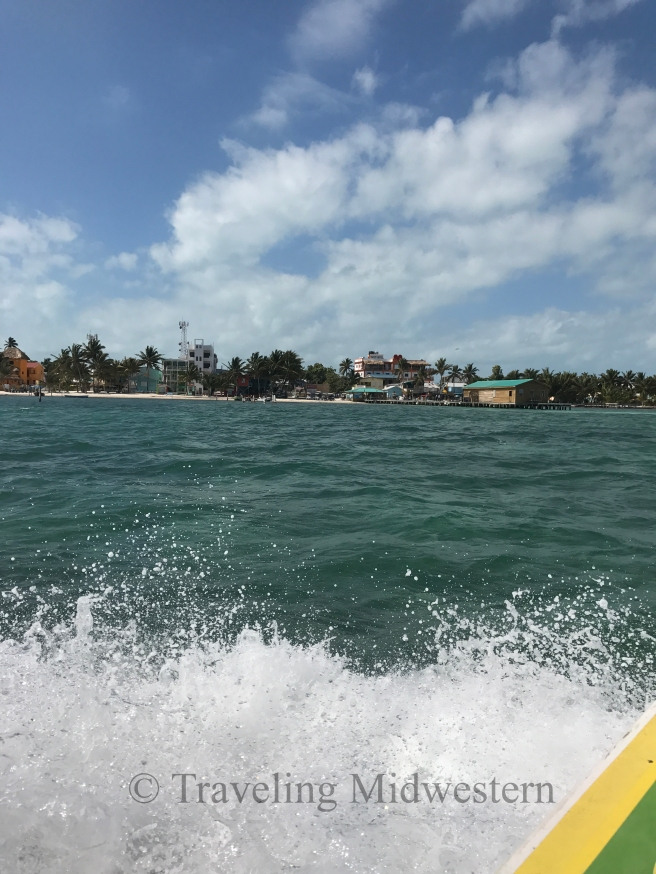 Island of Caye Caulker in Belize