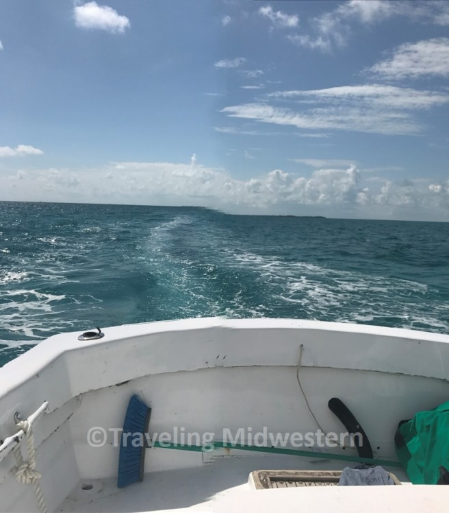 boat ride to snorkeling in caye caulker
