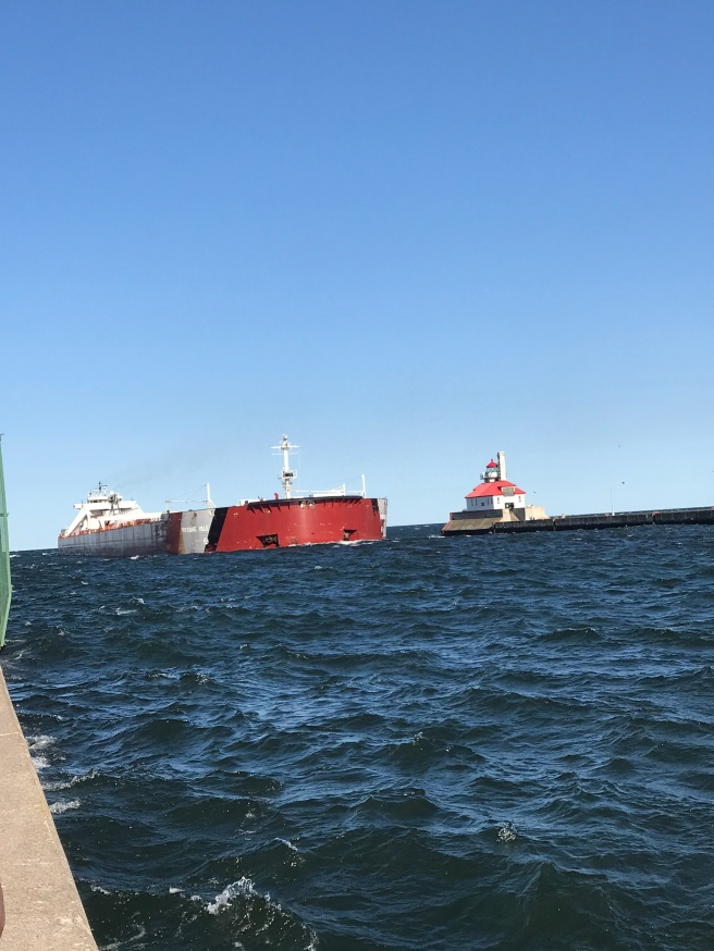 ship in lake superior