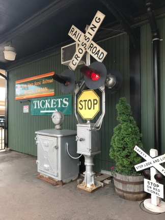 train sign outside of depot for Duluth Zephyr